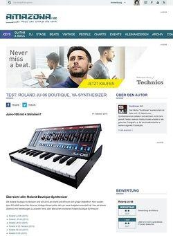 Amazona.de Test: Roland JU-06 Boutique, VA-Synthesizer