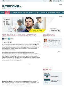 Amazona.de Test: Roland JC-40, Gitarrenverstärker