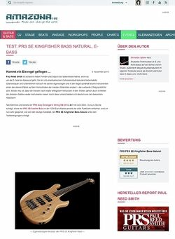Amazona.de Test: PRS SE Kingfisher Bass Natural, E-Bass