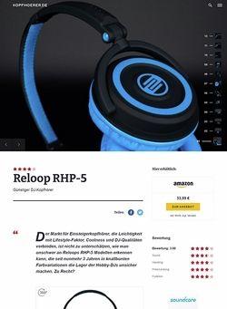 Kopfhoerer.de Reloop RHP-5 Series Flash Black