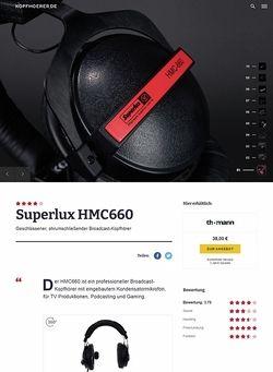 Kopfhoerer.de Superlux HMC 660 X