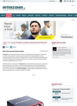 Amazona.de Test: TC Electronic BH550, Bassverstärker