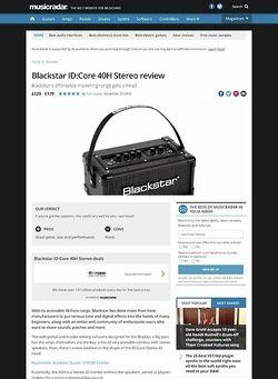 MusicRadar.com Blackstar ID:Core 40H Stereo