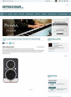 Amazona.de Test: EVE Audio SC203, Desktop Monitore