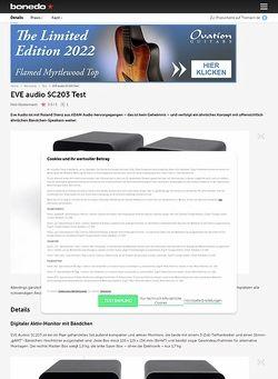 Bonedo.de EVE audio SC203