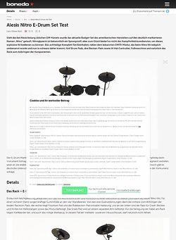 Bonedo.de Alesis Nitro E-Drum Set