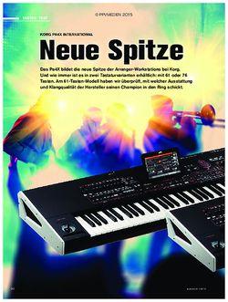 tastenwelt Korg Pa4x International - Neue Spitze
