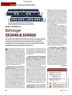 KEYS Test: Behringer SX3040 & SU9920