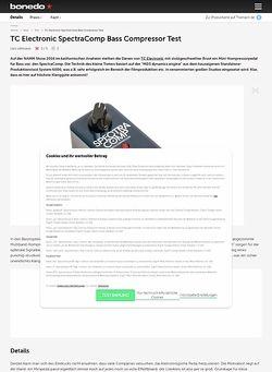 Bonedo.de TC Electronic SpectraComp