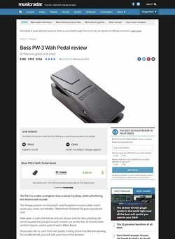 MusicRadar.com Boss PW-3 Wah Pedal