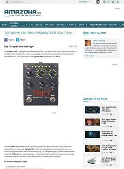 Amazona.de TOP NEWS: Digitech präsentiert den Trio+