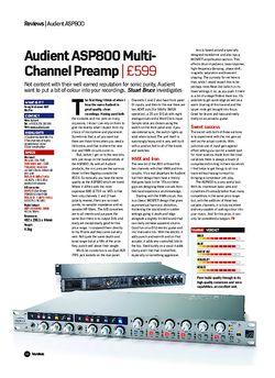 Future Music Audient ASP800