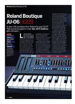 Future Music Roland Boutique JU-06