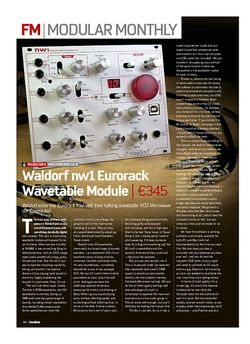 Future Music Waldorf nw1 Eurorack Wavetable Module