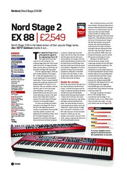 Future Music Nord Stage 2 EX 88