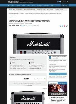 MusicRadar.com Marshall 2525H Mini Jubilee Head