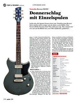 guitar Yamaha Revstar RS502