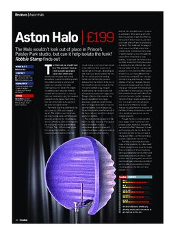 Future Music Aston Halo