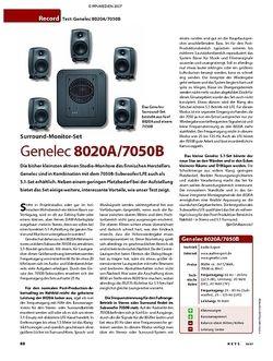 KEYS Test: Genelec 8020A/7050B