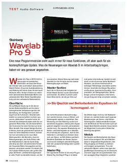 KEYS Steinberg Wavelab Pro 9