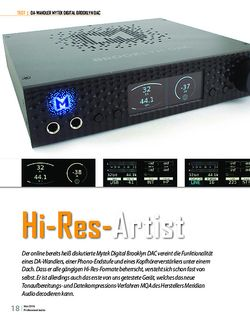 Professional Audio Mytek Digital Brooklyn DAC - Hi-Res-Artist