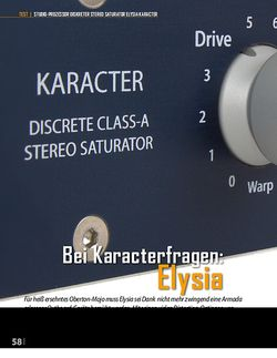 Professional Audio Bei Karacterfragen: Elysia