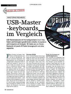 SOUNDCHECK USB-Master-Keyboards im Vergleich