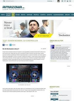 Amazona.de Test: Denon MCX8000, DJ-Controller