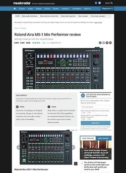 MusicRadar.com Roland Aira MX-1 Mix Performer
