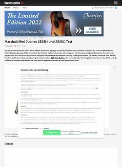 Bonedo.de Marshall Mini Jubilee 2525H und 2525C