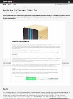 Bonedo.de Sela CaSela Pro Thomann Edition