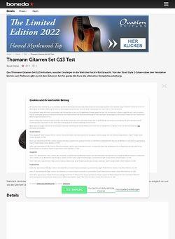 Bonedo.de Thomann Gitarren Set G13