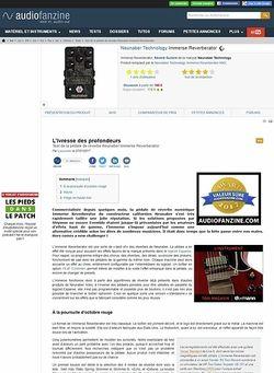 Audiofanzine.com Neunaber Technology Immerse Reverberator