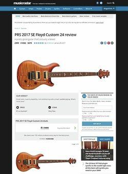 MusicRadar.com PRS 2017 SE Floyd Custom 24