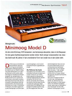 KEYS Minimoog Model D