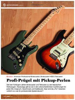 guitar Fender American Professional Stratocaster, Stratocaster HSS & Telecaster