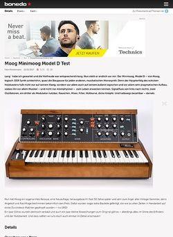 Bonedo.de Moog Minimoog Model D