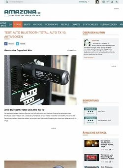 Amazona.de Alto Bluetooth Total und Alto TX 10