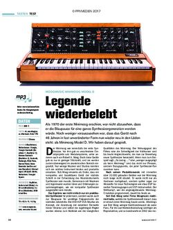 tastenwelt Moogmusic Minimoog Model D: Legende wiederbelebt