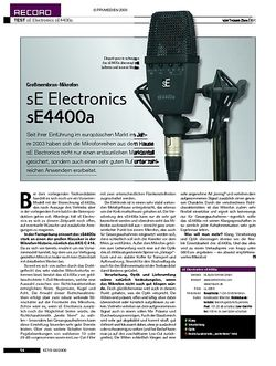 KEYS Test: sE Electronics sE4400a