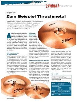 DrumHeads Instrumente & Technik: Zildjian ZBT