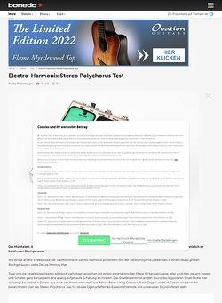 Bonedo.de ELECTRO HARMONIX Stereo Polychorus
