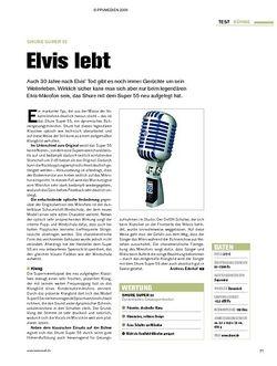 Tastenwelt Test: Shure Super 55 - Elvis lebt