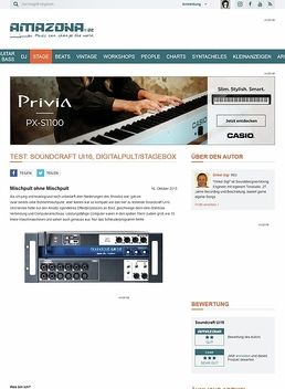 Test: Soundcraft Ui16, Digitalpult/Stagebox