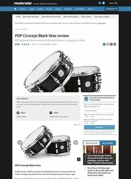 """PDP 14""""x5,5"""" Black Wax Snare"""