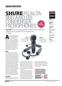 Shure PG Alta 98D And 181 Condenser Microphones