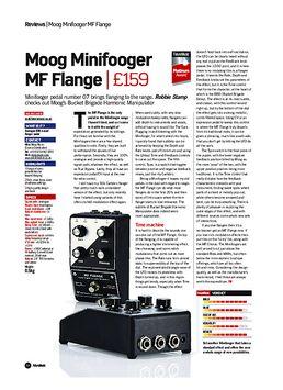 Moog Minifooger MF Flange