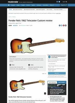 Fender Relic 1962 Telecaster Custom