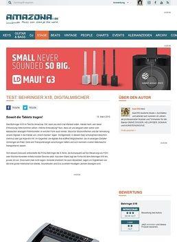 Test: Behringer X18, Digitalmischer