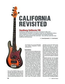 Sandberg California VM, E-Bass